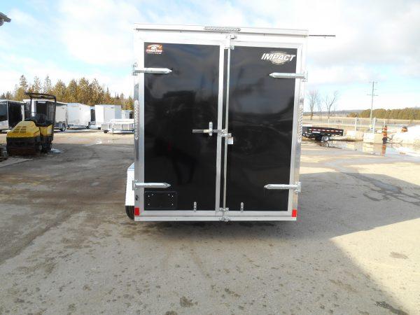6x10 impact shockwave, black, barn doors, 2021, enclosed trailer