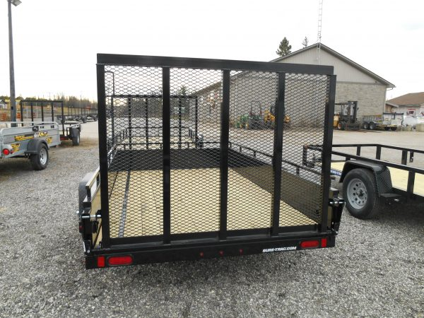 2021 SURE-TRAC 6X10 STEEL HIGH SIDE, RAMP GATE, SINGLE AXLE, 3500#