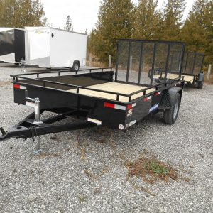 2021 7X12 SURE-TRAC STEEL HIGH SIDE, RAMP GATE SINGLE AXLE, 3500#