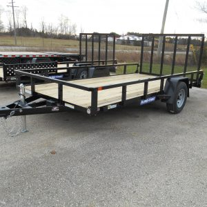 2021 SURE-TRAC 7X14 TUBE TOP TRAILER, SINGLE AXLE, RAMP GATE 5000# AXLE