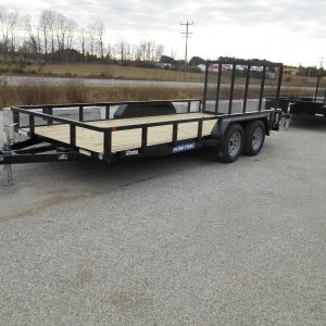 2021 SURE-TRAC 7X16 TUBE TOP RAMP GATE, TANDEM AXLE, 3500#