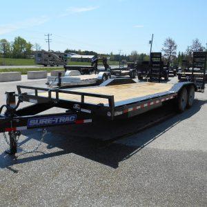 8.5x22 deck over, drive over fenders, equipment hauler, sure-trac, 8000# axles, tandem